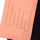 刺繍半幅帯