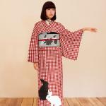 DSC047252+うさぎ襟ノベルティあたり+うさぎ帯揚黒+ウサギ半幅帯プリント用白+赤ウサギ