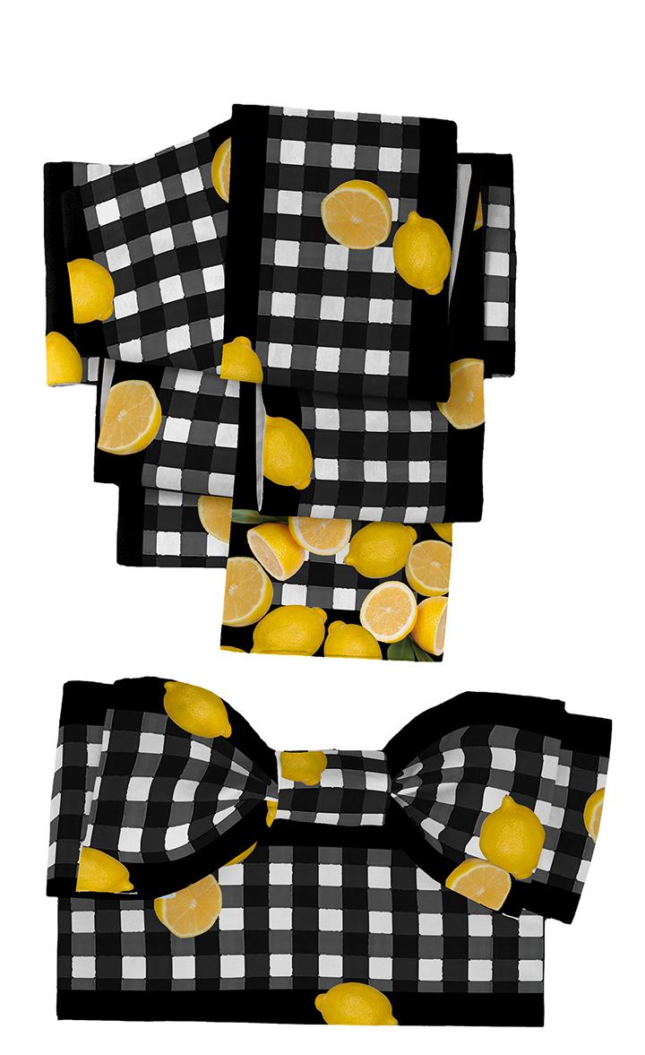 DSC08141+レモン帯チェック+半幅裏ストライプ白黒mn